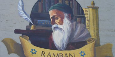 Wall painting of #R'MosheBenNachman, at the wall of Akko's Auditorium. Author: Chesdovi. This file is licensed under the Creative Commons Attribution-Share Alike 3.0 Unported license. Wikimedia Commons.